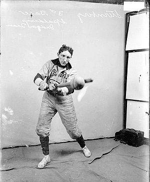 Indoor baseball player, 1907