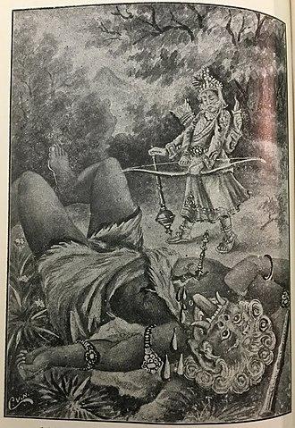 Vritra - Indra kills Vrttirasura (story from Rig Veda, featured in Bhagavatha)
