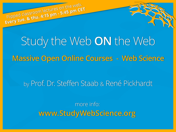 this graphic advertises the web science mooc