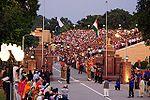 International border at Wagah - evening flag lowering ceremony.jpg