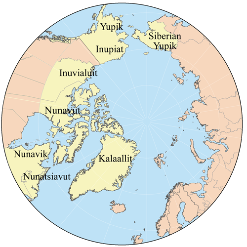 Inuit conf map