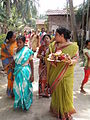 Inviting Goddess Ganga - Hindu Sacred Thread Ceremony - Simurali 2009-04-05 4050052.JPG