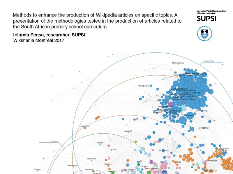 File:Iolanda Pensa, Methods to enhance the production of Wikipedia articles on specific topics.pdf