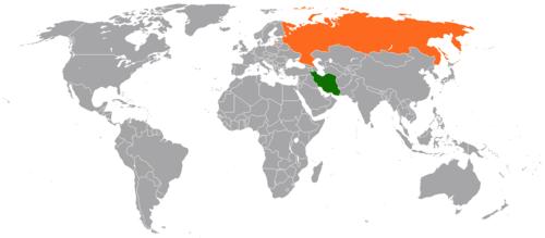 نقشه موقعیت ایران-روسیه را نشان میدهد