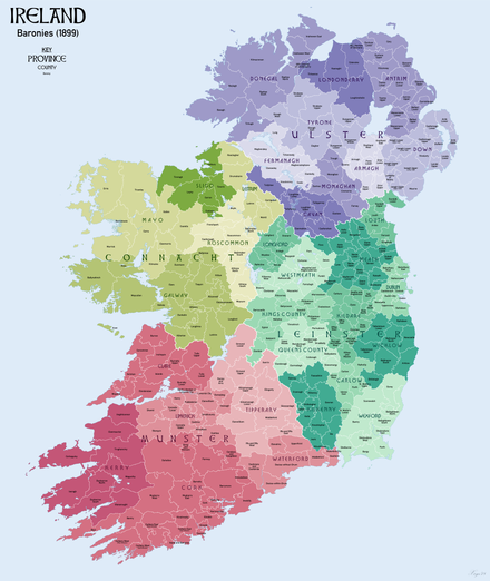 Map Of Ireland In Irish Language.Barony Ireland Wikipedia