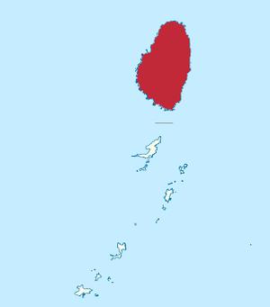 Saint Vincent (Antilles) - Image: Island of Saint Vincent