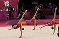 Israel Rhythmic gymnastics at the 2012 Summer Olympics (7915386148).jpg