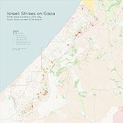 Israeli Strikes on North Gaza
