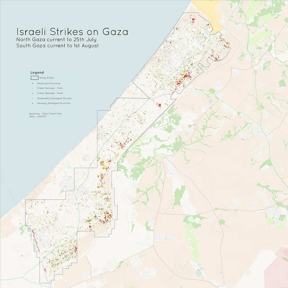 Israeli Strikes on North Gaza