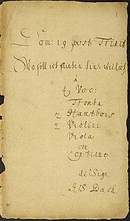 <i>Wo soll ich fliehen hin</i>, BWV 5 church cantata by Johann Sebastian Bach
