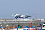 JA11JJ, Airbus A320-232, GK203, from Narita, Tokyo (17684288983).jpg