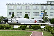 JASDF F-86D(14-8217) left front view at Komatsu Air Base September 17, 2018 01.jpg