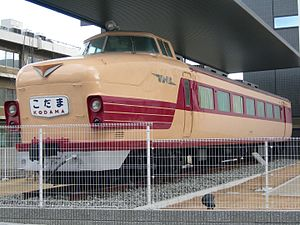 Kodama (train) - A preserved 181 series car (original 151 series car)