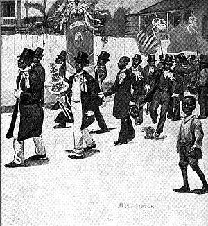"Second line (parades) - ""Sons of Hope and the Annual Parade of the Young Veterans"", New Orleans c. 1902"