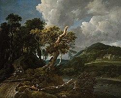 Jacob van Ruisdael: Wooded River Landscape