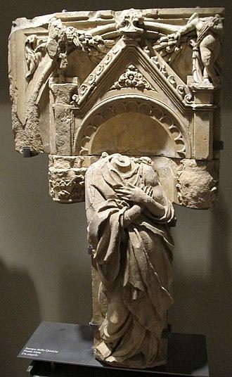 Fonte Gaia - Image: Jacopo della quercia, angelo 02