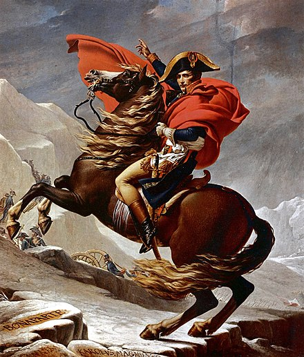 Second version Charlottenburg Palace Jacques-Louis David - Napoleon Crossing the Alps - Schloss Charlottenburg.jpg