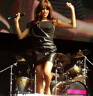 Jade Ewen - Jade Ewen performing with the Sugababes in 2011