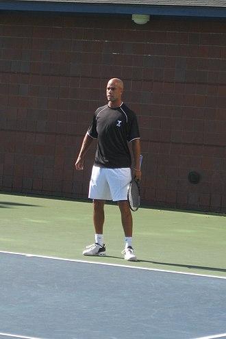 James Blake (tennis) - James Blake practicing at US Open 2010