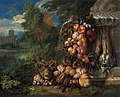 Jan Pauwel Gillemans (II), Pieter Rijsbraeck - Still life with Fruit in a Landscape, pendant.jpg