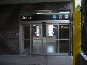 Jane station - Accessible entrance from Bloor Street