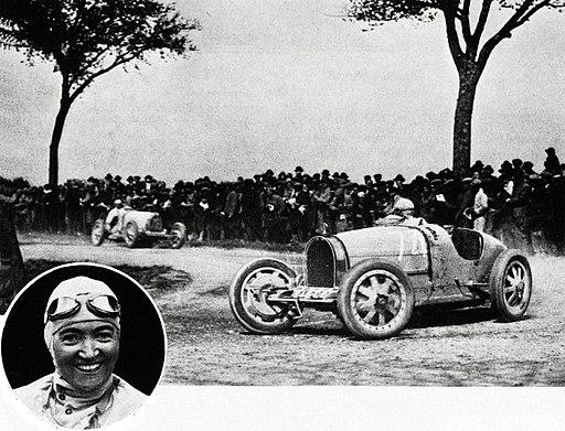 Janine Jennky victorieuse de la Coupe de Bourgogne 1928, sur Bugatti 35C