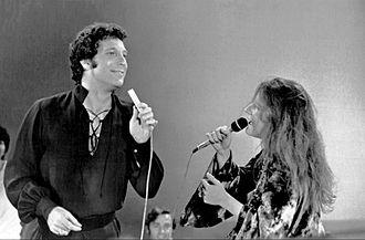 Tom Jones (singer) - Jones duetting with Janis Joplin in the television program This Is Tom Jones in 1969