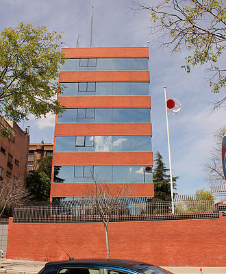 Japanese people in Spain - Japanese Embassy in Madrid