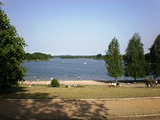 Jaworzno - Sosina artificial lake.