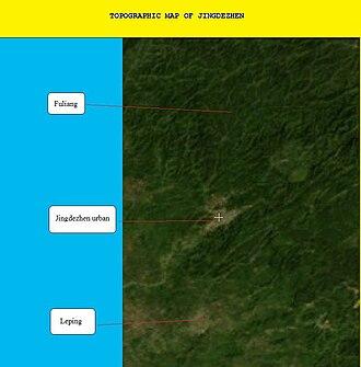 Jingdezhen - Topographic Map of Jingdezhen