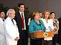 Jefa de Estado anunció la eliminación del embarazo como preexistencia para tener un contrato de salud previsional (15635609638).jpg