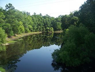 Aucilla River - Jefferson and Madison county division, at US 27 bridge