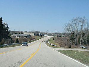 Jeffersontown, Kentucky - Blankenbaker Access Drive (westbound) in Jeffersontown