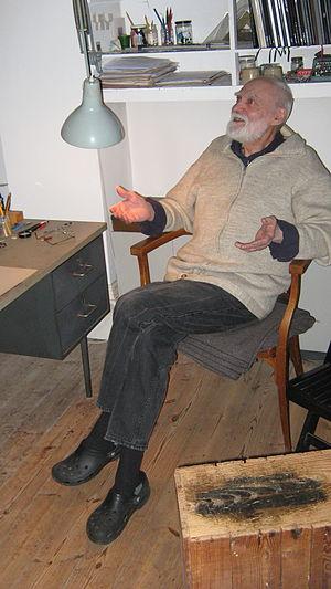 Jeffrey Steele (artist) - Jeffrey Steele in his studio, February 2014
