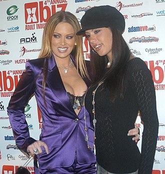 McKenzie Lee - McKenzie Lee with Jenna Jameson (left) at the 2005 XBIZ Awards