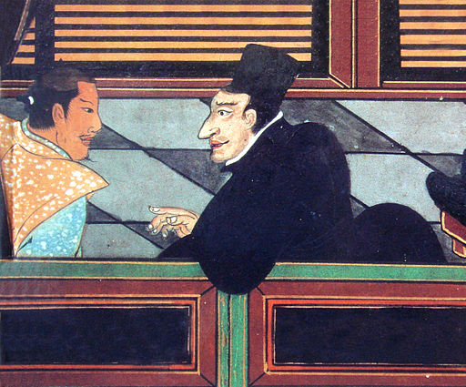 Jesuit with Japanese nobleman circa 1600