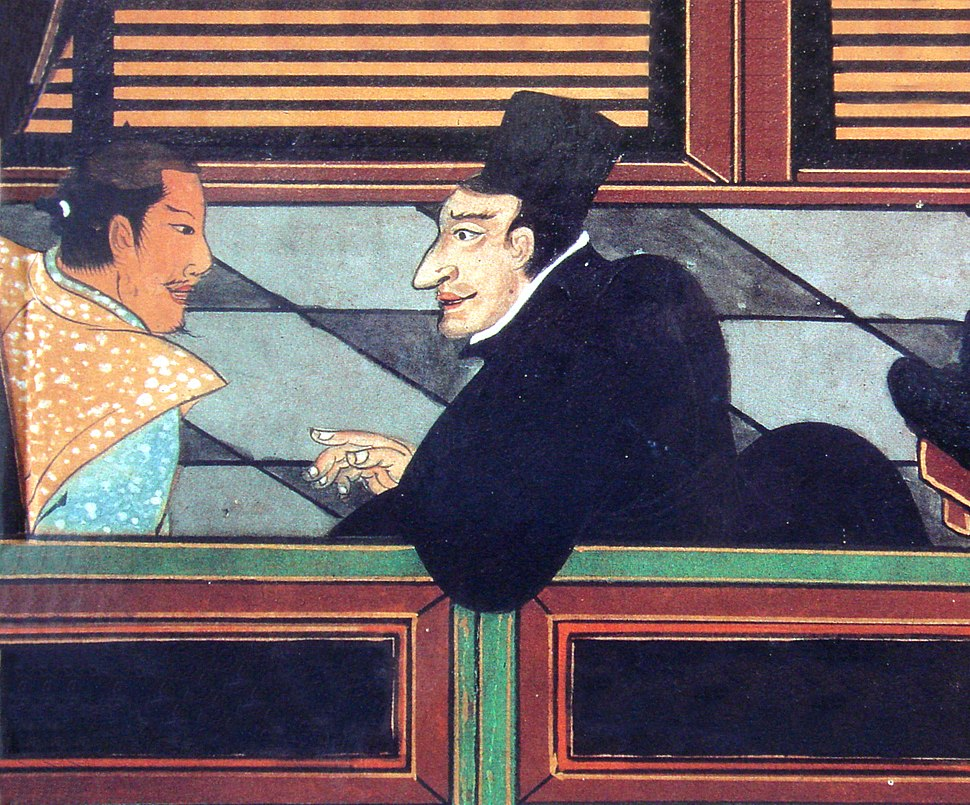 Jesuit with Japanese nobleman circa 1600