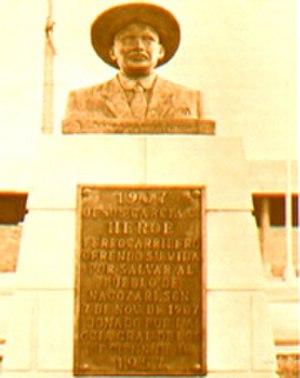 Jesús García - Monument to Jesús García in Nacozari