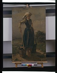 Jeune paysanne bretonne