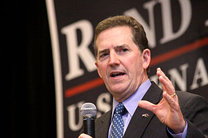 Jim DeMint - Jim DeMint speaking at rally for United States Senate candidate Rand Paul in October 2010