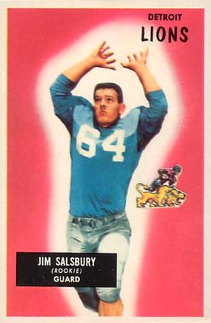 Jim Salsbury - Salsbury on a 1955 Bowman football card
