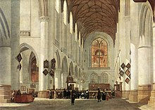 Job Adriaensz. Berckheyde - Interior of the St Bavo Church at Haarlem - WGA01933.jpg