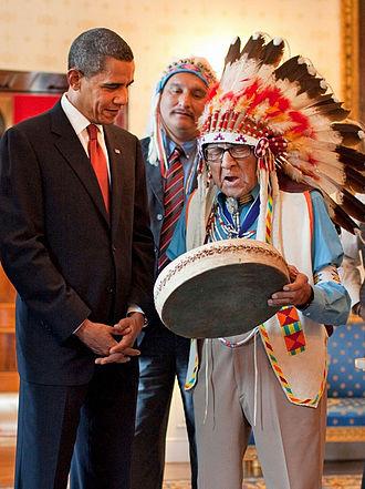 Joe Medicine Crow - With President Barack Obama in 2009