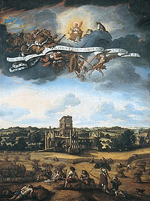 Johann Baptiste Bouttats - North East Prospect of Kirkstall Abbey