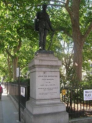John Fox Burgoyne - Statue in Waterloo Place, London