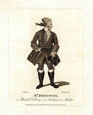 William Macready the elder - John Henry Johnstone as Murdock Delany in The Irishman in London, 1797 engraving