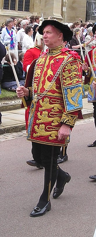 John Martin Robinson - John Robinson in the procession to the annual service of the Order of the Garter
