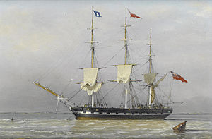 John Ward of Hull - A three-masted merchantman anchored in the Humber...etc.jpg