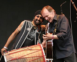 Johnny Kalsi - Kalsi and Martin Carthy performing with The Imagined Village at the Big Chill Festival