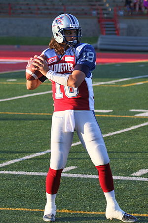 Jonathan Crompton - Crompton with the Montreal Alouettes in 2015
